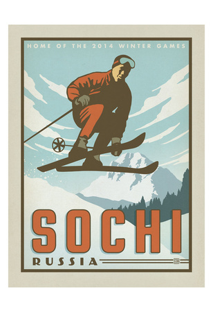 Sochi, Russia Posters by  Anderson Design Group