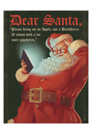 Hi Tech Santa X-Mas Posters by  Anderson Design Group