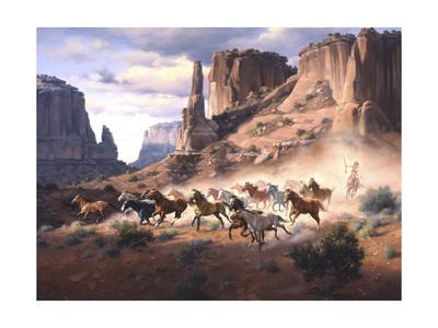Sandstone and Stolen Horses Art by Jack Sorenson