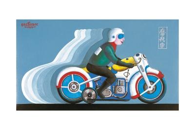 Biker, 1979 Giclee Print by Tamas Galambos