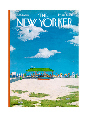 The New Yorker Cover - August 20, 1973 Giclee Print by Albert Hubbell