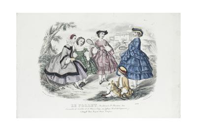 Le Follet (revue): ensembles de toilettes de la maison Leroy, planche 2276 Giclee Print by Anaïs Toudouze