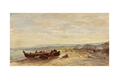 Pêcheurs à Antibes Giclee Print by Félix Ziem