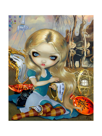 Alice in a Dali Dream Print by Jasmine Becket-Griffith
