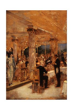 Armenonville, le soir du Grand Prix (esquisse), 1905 Giclee Print by Henri Gervex