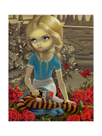 Painting the Roses Red Photographic Print by Jasmine Becket-Griffith