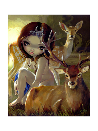 Diana in the Forest Print by Jasmine Becket-Griffith