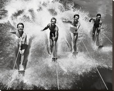 Water Ski Splash Stretched Canvas Print