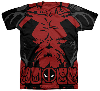 Deadpool apparel black and red costume tee