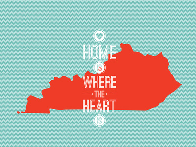 Home Is Where The Heart Is - Kentucky Posters