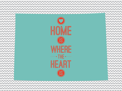Home Is Where The Heart Is - Colorado Posters