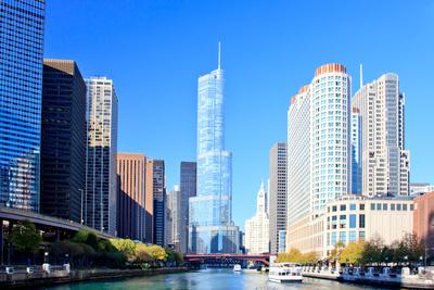 Chicago Financial District Fotografisk Tryk Af Rebelml P