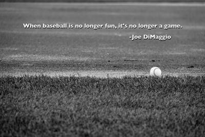 Baseball Joe DiMaggio Quote Foto