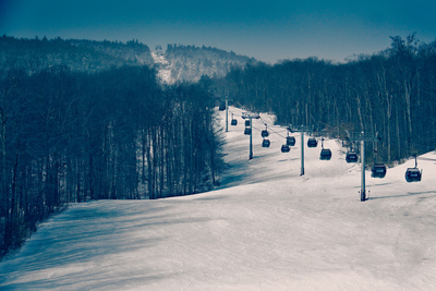 Ski Lifts and Ski Slopes Photo