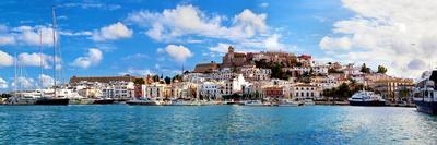 Panorama of Ibiza Old City - Eivissa. Spain, Balearic Islands Photographic Print by PHOTOCREO Michal Bednarek