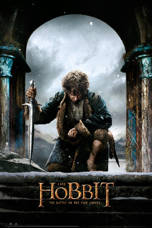 The Hobbit Battle of the Five Armies - Bilbo kneel Prints