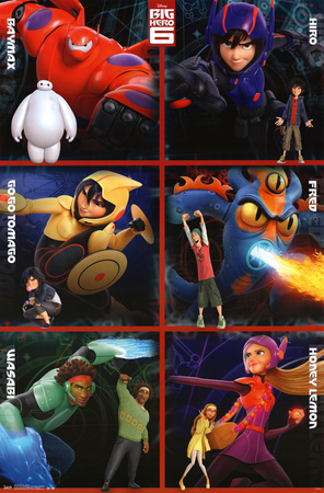 Big Hero 6 Disney Pixar movie poster; one of Disney's greatest films of all time