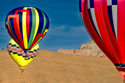 Hot Air Balloons. Photographic Print by William Scott