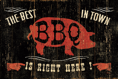 The Best BBQ in Town Prints by Jess Aiken
