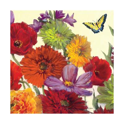 Butterfly Flower Scatter Crop II Print by Carol Rowan