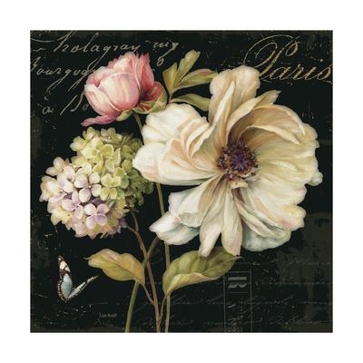 Marche de Fleurs on Black II Prints by Lisa Audit