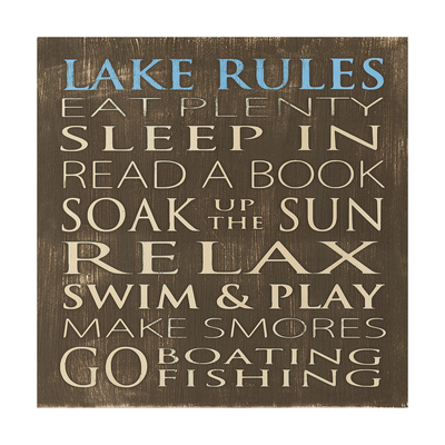 Lake Rules Posters by Holly Stadler