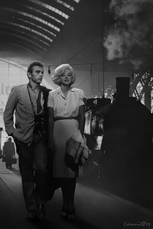James Dean and Marilyn at the Station Posters by Chris Consani