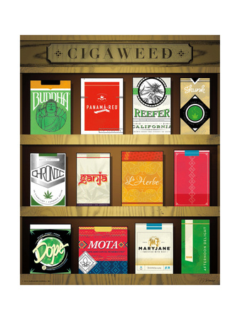 Cigaweed Brand Display Posters by JJ Brando