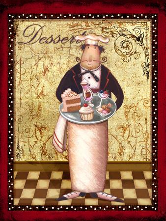 French Dessert Print by Viv Eisner