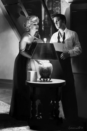 Marilyn and Elvis Penthouse Art by Chris Consani