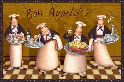 Bon Appetit Prints by Viv Eisner