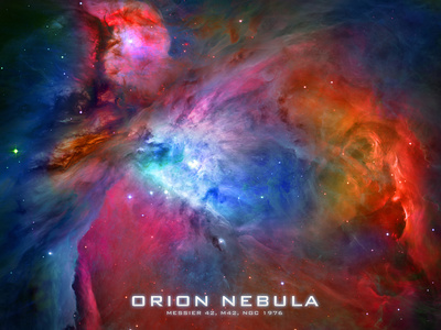 Orion Nebula Text Space Photo Poster Print Posters