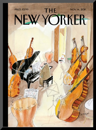The New Yorker Cover - November 14, 2011 Mounted Print by Jean-Jacques Sempé