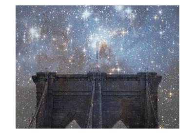 Brooklyn Starry Night Posters by Ashley Davis