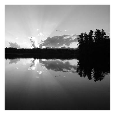 Sunset Lake 2 Print by Suzanne Foschino