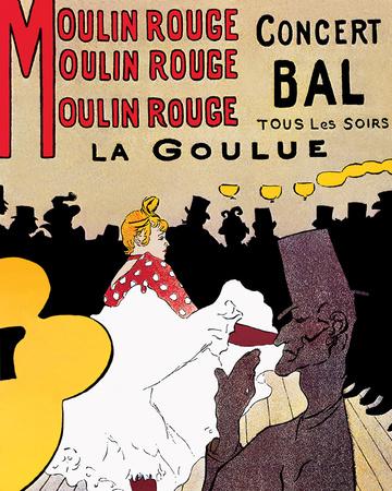 Moulin Rouge Posters by Henri de Toulouse-Lautrec