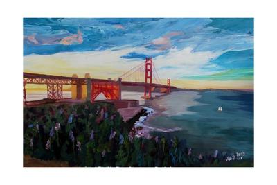A Golden Gate Bridge Evening from Presidio Giclee Print by Markus Bleichner