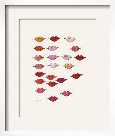 Stamped Lips, c. 1959 Prints by Andy Warhol