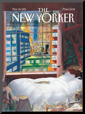 The New Yorker Cover - November 24, 1997 Mounted Print by Jean-Jacques Sempé
