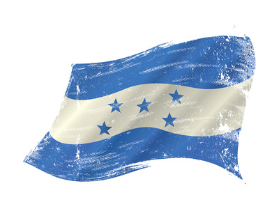 A Grunge Flag of Honduras in the Wind for You Prints by  TINTIN75