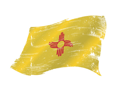 New Mexico Grunge Flag. A Grunge Flag of New Mexico in the Win with a Texture Prints by  TINTIN75