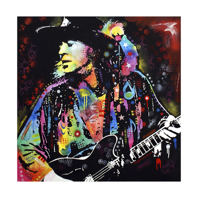Stevie Ray Vaughan Giclee Print by Dean Russo
