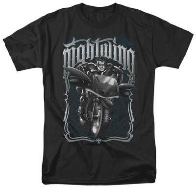 Batman - Nightwing Biker T-Shirt