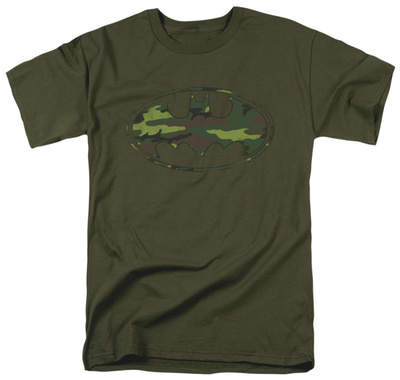 Batman – Distressed Camo Shield T-shirts