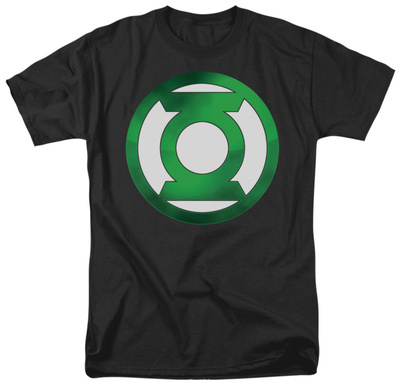 Green Lantern - Green Chrome Logo T-Shirt