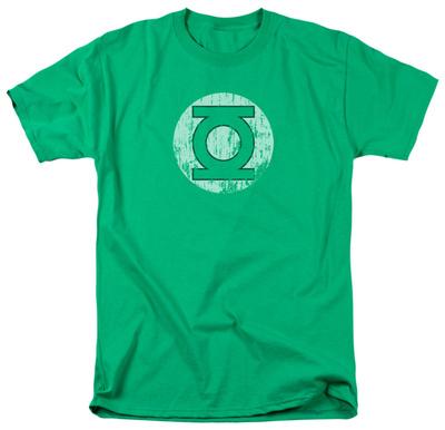 Green Lantern - Distressed Lantern Logo T-Shirt
