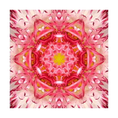 Red Mandala Concentric Flower Center Kaleidoscope Posters by  tr3gi