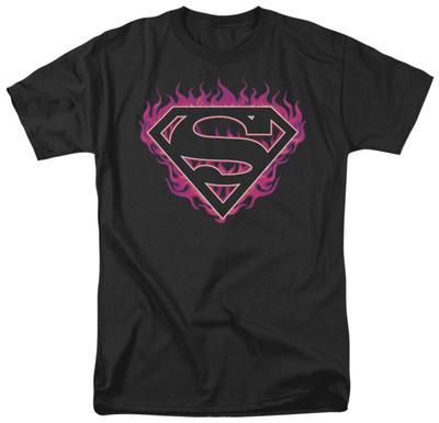 Superman - Fuchsia Flames T-shirts
