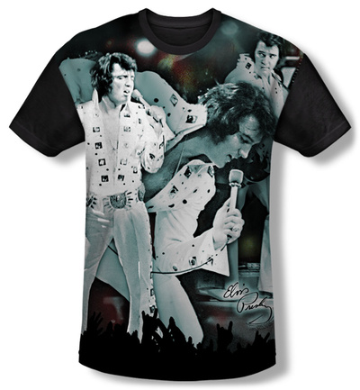 Elvis Presley - Now Playing Black Back Shirt