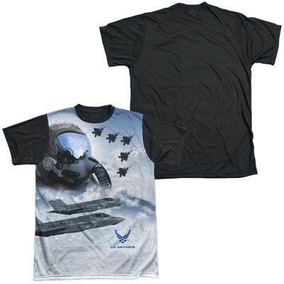 Air Force - Pilot Black Back T-Shirt